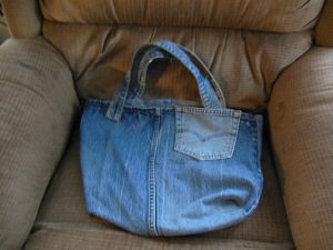 Denim tote bag with pocket tote $20 + $5.50 shipping