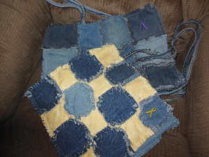 Large denim tote bag, all denim or yellow and denim $30 + $5.58 shipping