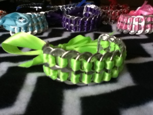 Pop tab ribbon bracelets $5 each +$2.07 shipping you can choose any color!