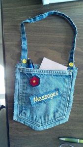 Cute message pocket bag $5 with pen & notepad included +$2.07 shipping